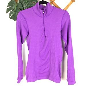 Lucy   Medium Purple Half Zip Pullover Workout